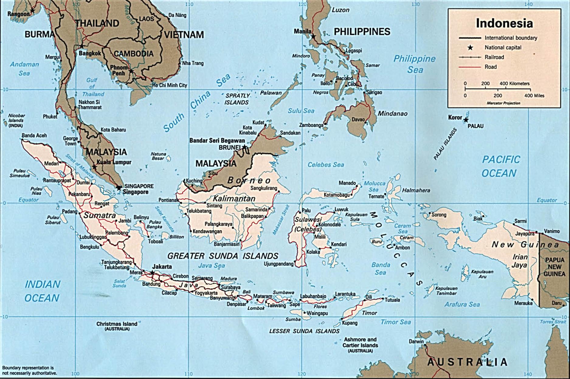 Malaisie Carte Politique